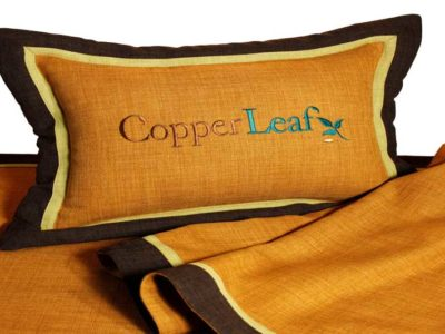 Copperleaf-pillow-and-bedscarf-Silver-2-web