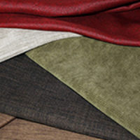 High Quality 100% polyester fabrics resist stains and are commercially washable.